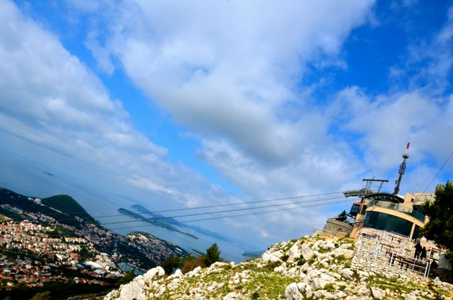 Dubrovnik Cable Car at upper statio