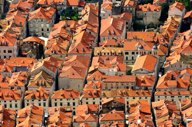 Old Town Dubrovnik Rooftops from Above