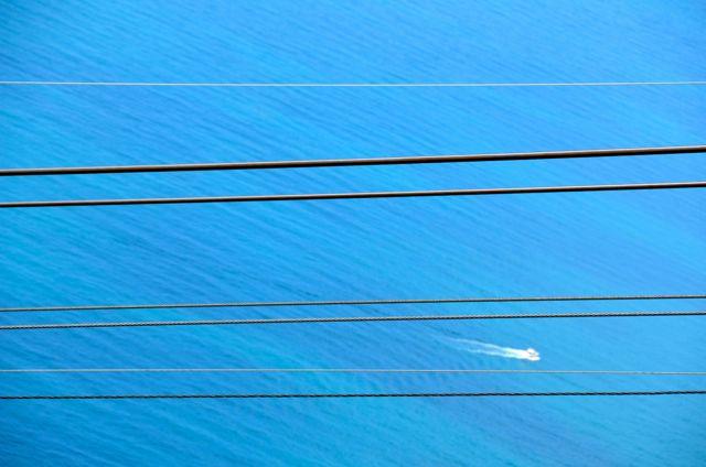 Dubrovnik Cable Car Cables set against Adriatic
