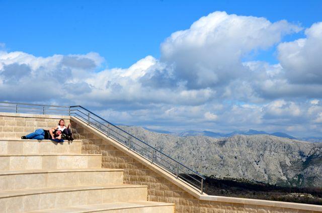 couple atop mount srdj