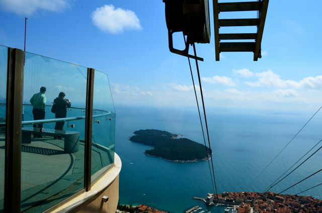 View from Dubrovnik Cable Car Platform