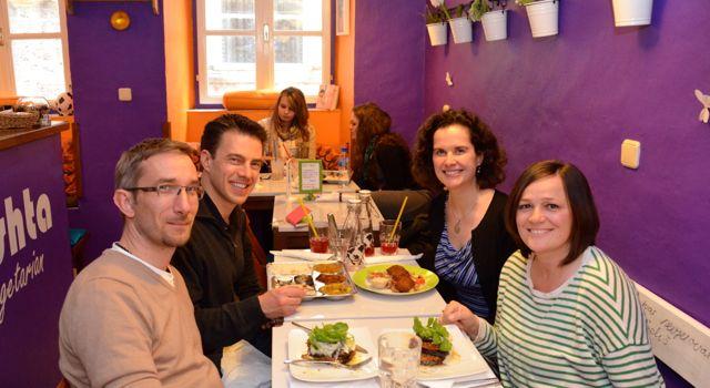 Eating at Nishta Restaurant in Dubrovnik, Croatia
