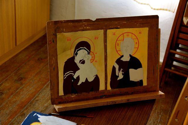 Byzantine icon workshop in Kastraki Dimitrios Moulas03