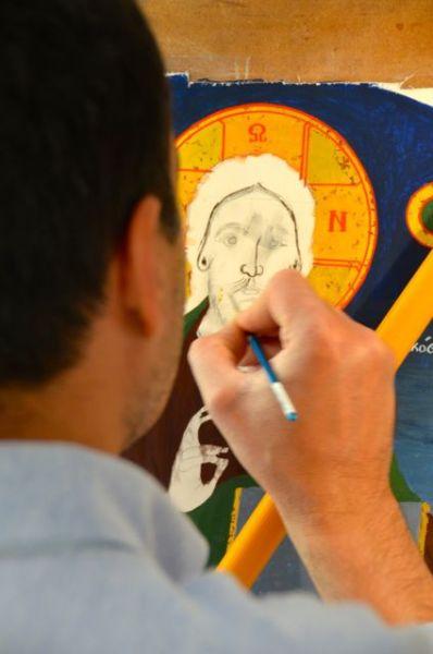 Byzantine icon workshop in Kastraki Dimitrios Moulas12