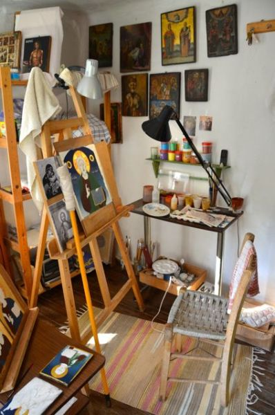 Byzantine icon workshop in Kastraki Dimitrios Moulas16