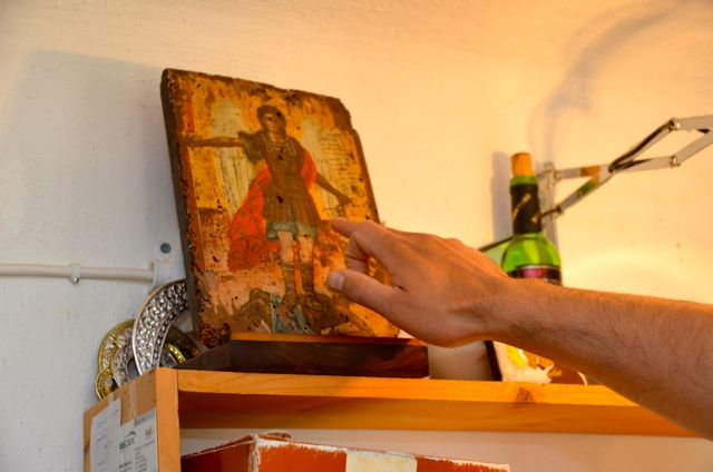 Byzantine icon workshop in Kastraki Dimitrios Moulas19