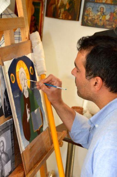 Byzantine icon workshop in Kastraki Dimitrios Moulas20