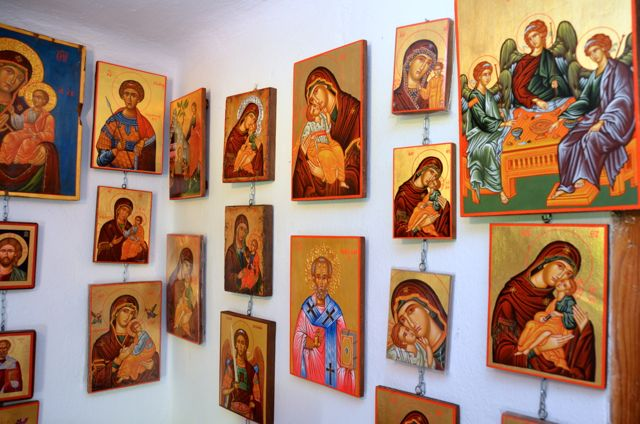 Byzantine icon workshop in Kastraki Dimitrios Moulas22
