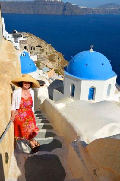 On Santorini Stairs