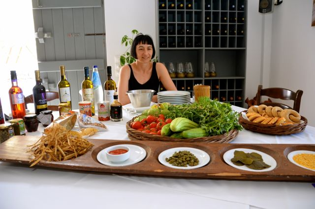 Santorini Restaurant Wine Food Cooking Class Selene Greece26