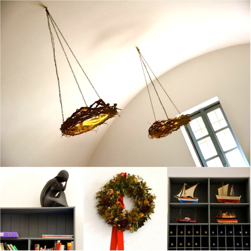 selene restaurant interior collage