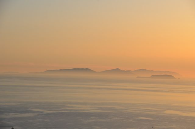 Sunrise on Santorini from balcony in Imerovigli1