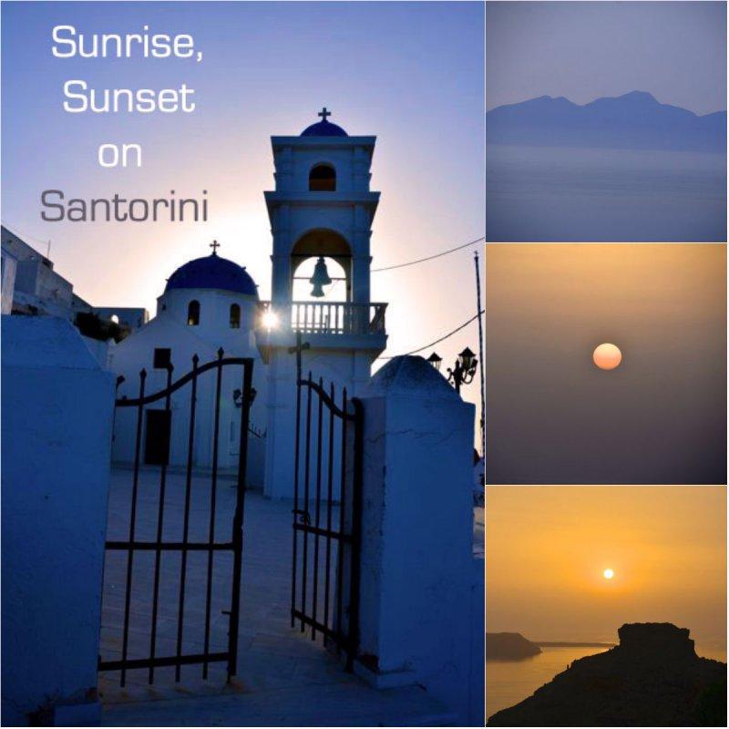 sunrise sunset collage