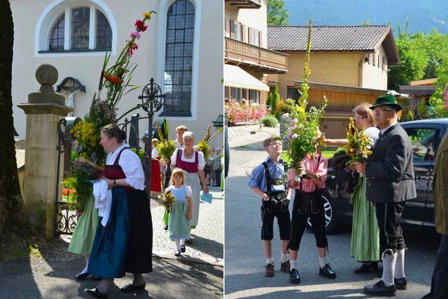 People celebrate Maria Himmelfahrt Day in Germany.