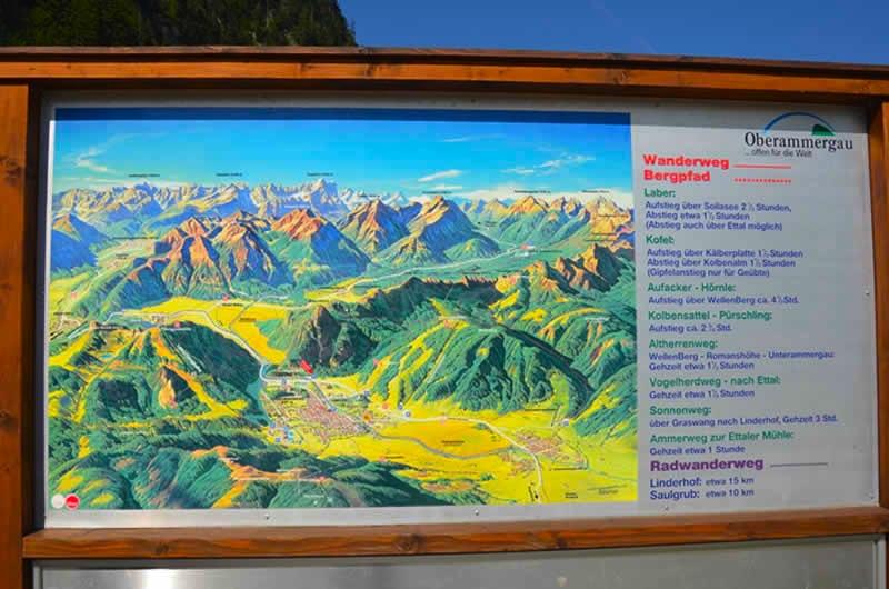 Ammergauer Alpen Map in Oberammergau