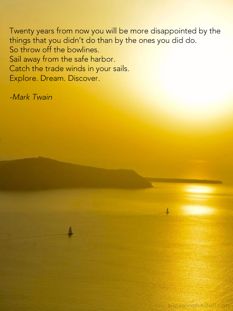 Santorini sailing quote