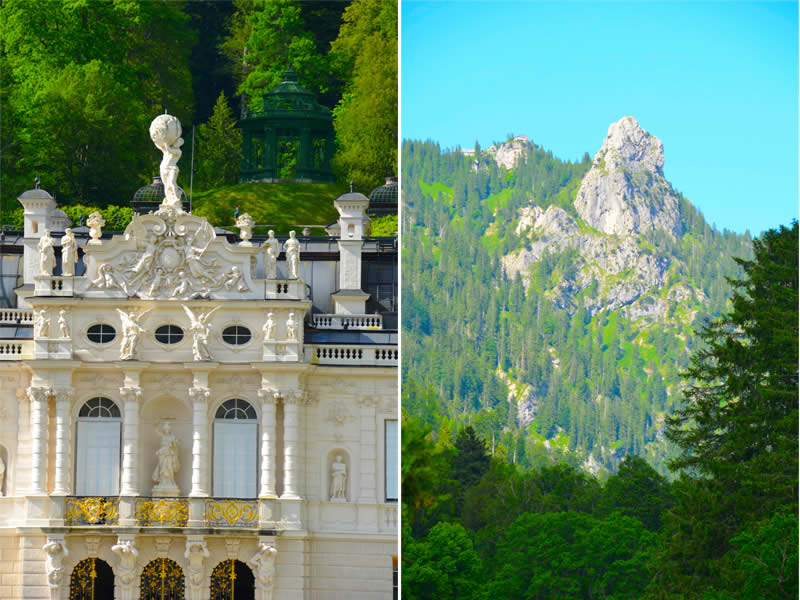 Schloss Linderhof architecture and mountains