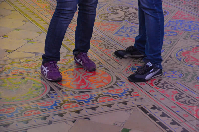 Sainte Chapelle Paris floor