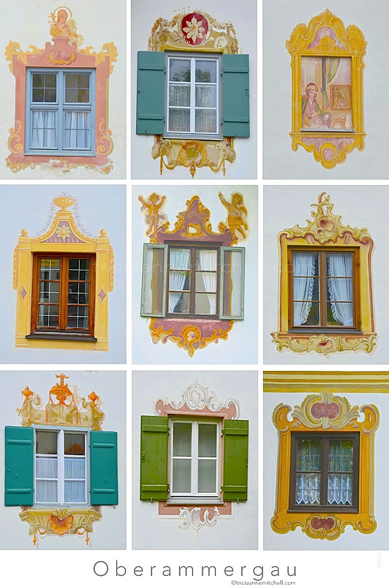 Windows of Oberammergau, Germany 1