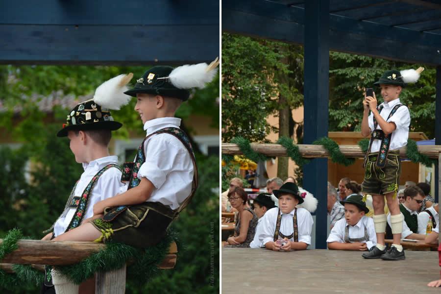 Oberammergau Schuhplattler Gartenfest German folk dancing 1