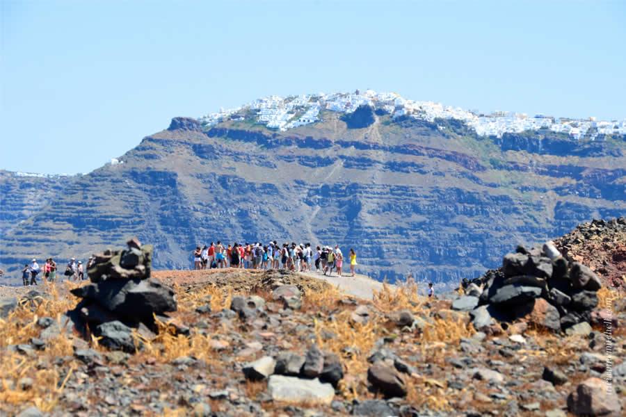 Santorini Volcano Tour Nea Kameni 8