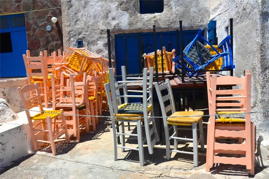 Santorini Volcano Tour Therasia Chairs