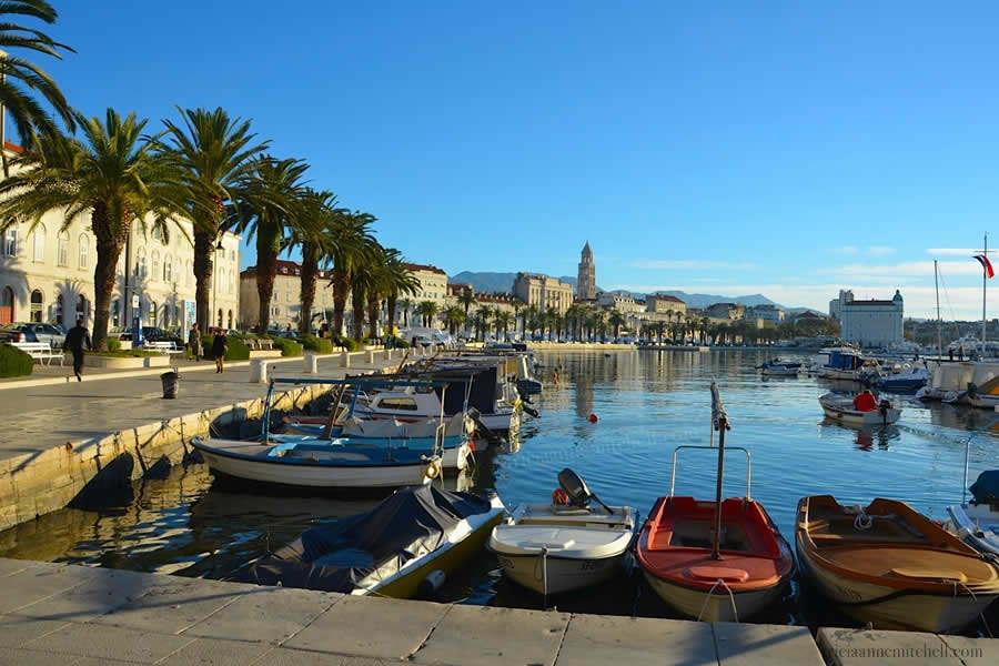 Split Croatia Riva and Boats