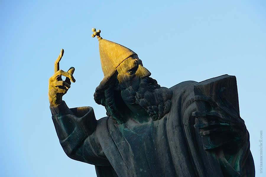 Statue of Gregory of Nin Grgur Ninski in Split