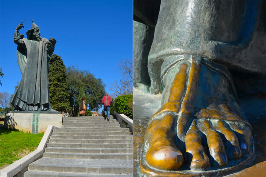 Gregory of Nin Statue and Toe