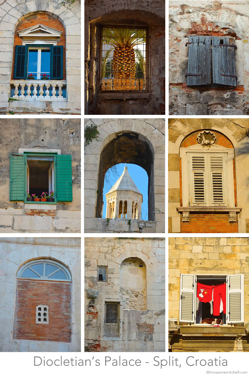Windows of Diocletian's Palace - Split, Croatia Tricia A. Mitchell