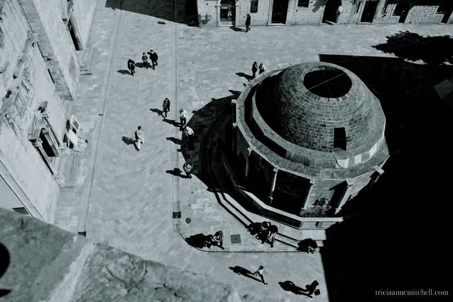 Dubrovnik-Great-Onofrio-Fountain-Overhead-Architecture