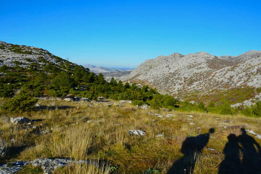 Hiking Mosor near Split Croatia