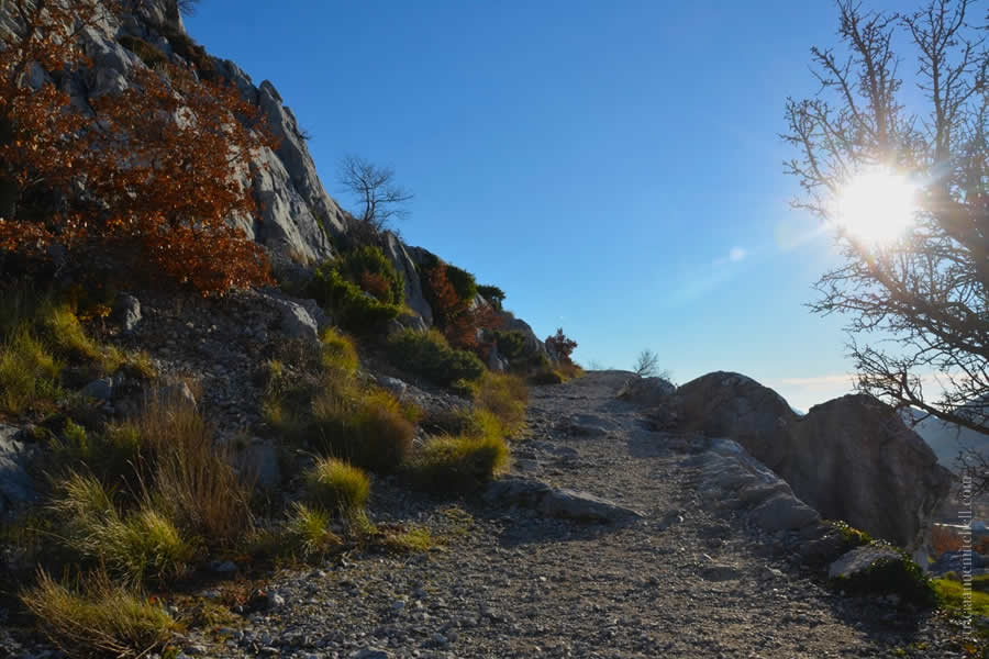 Hiking Mosor Split Croatia path