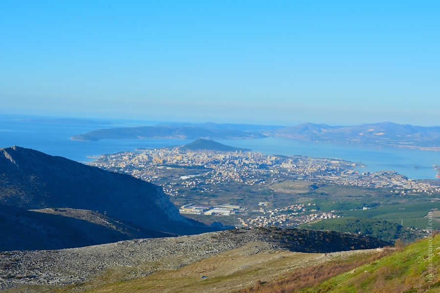 Hiking Mosor Split Croatia Skyline and Adriatic in Distance