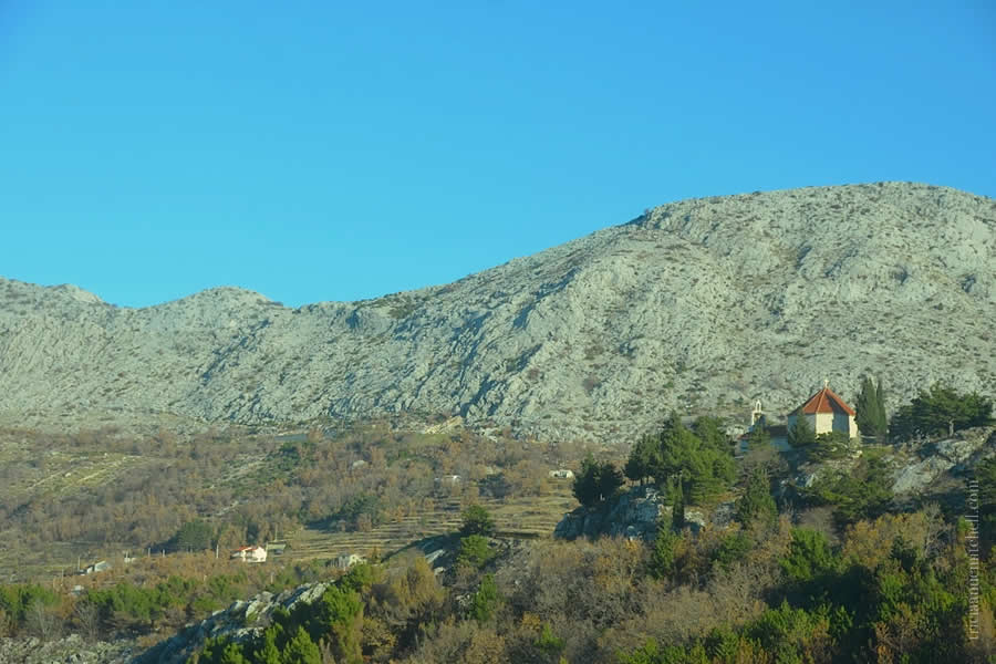 Hiking Mountains near Split Croatia