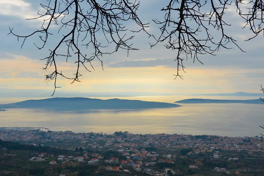 View of Adriatic from Kastela Vineyard