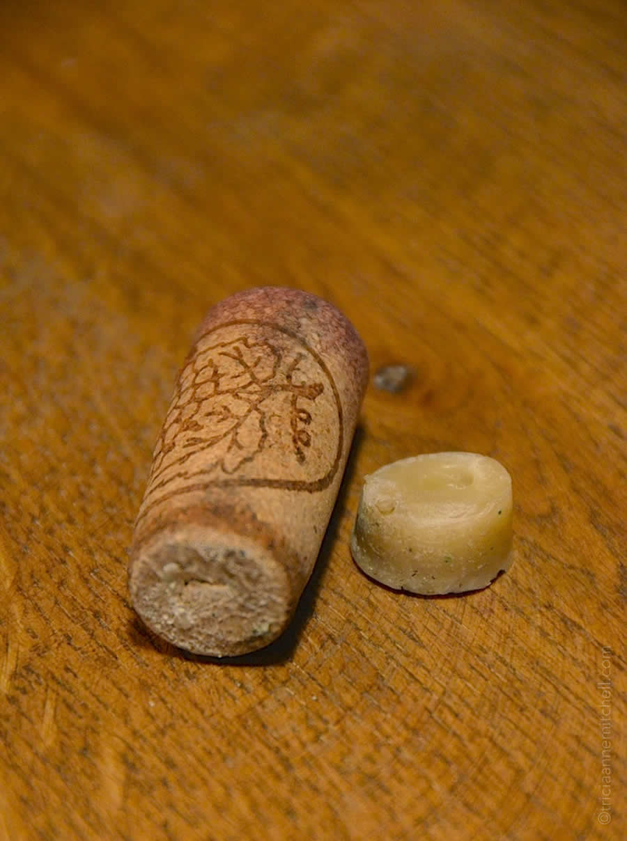 cork and wax used to age Croatian wine underwater