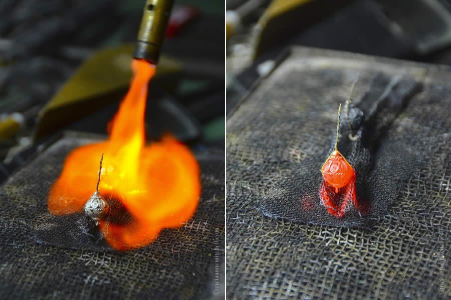 Filigree Making Toka Jewelry Soldering in Flame