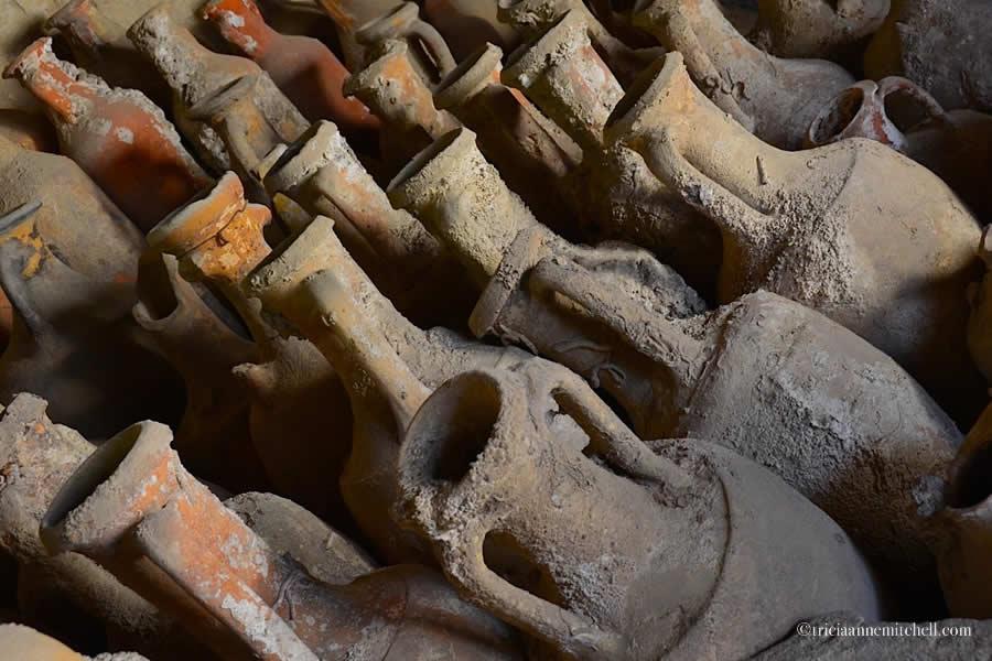 Ceramic amphoras at Split Archaeological Museum