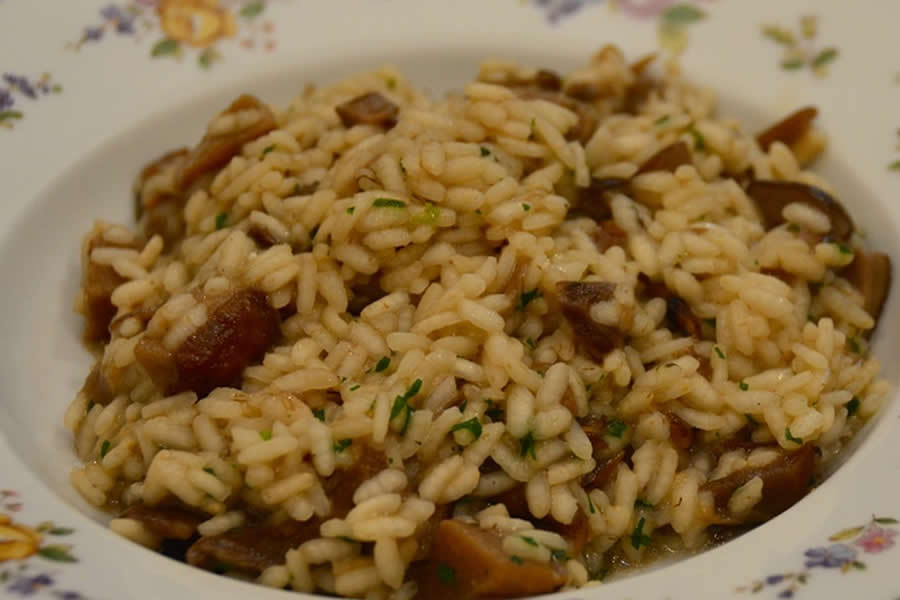 Il risotto ai funghi porcini