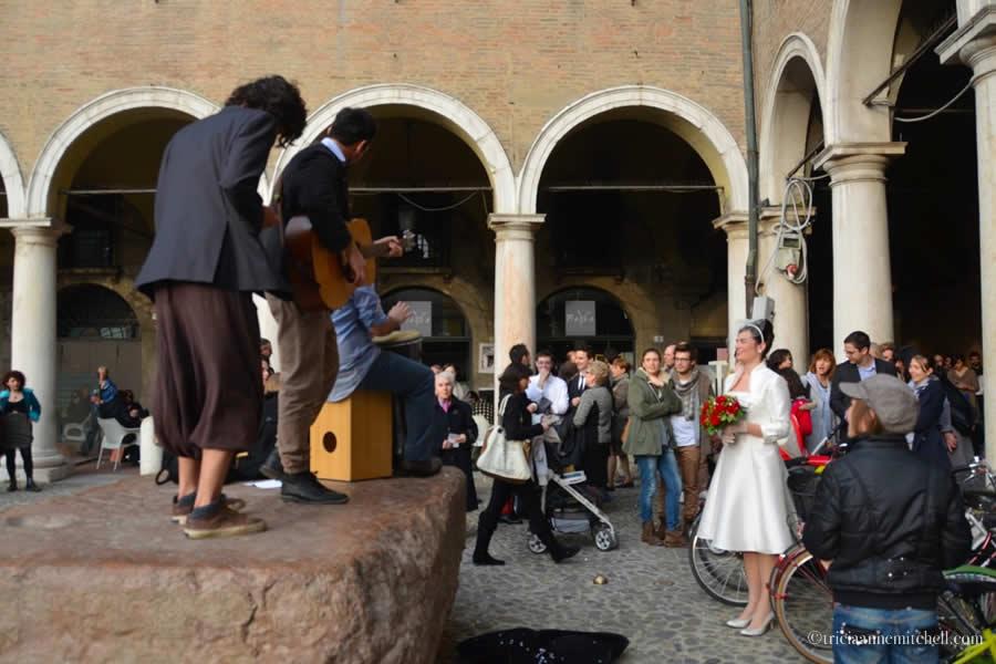Modena Italy Bride at City Hall