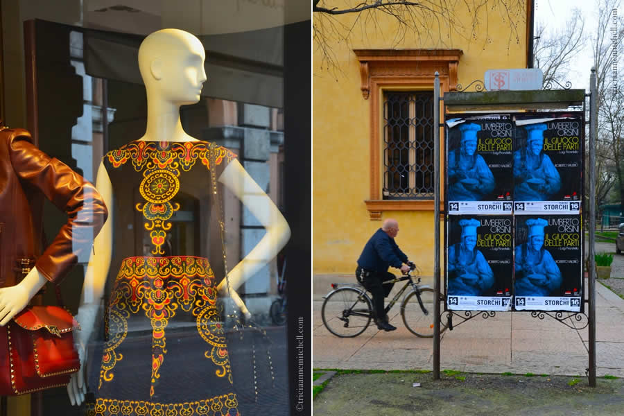 Modena Italy fashion in store window