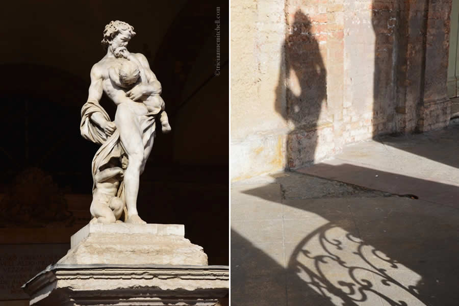 Modena Italy Statue and Shadow