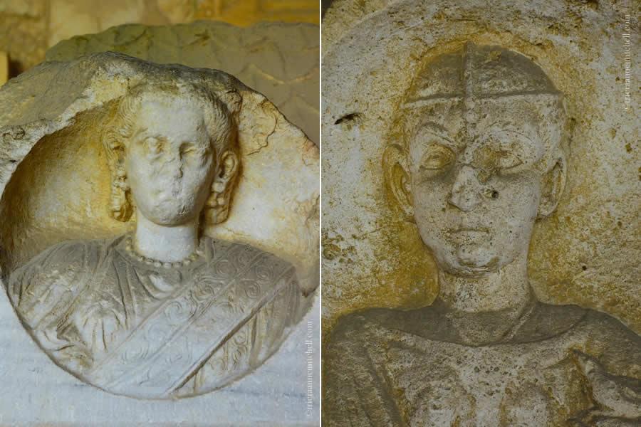 Roman couple headstone Split Archaeology Museum