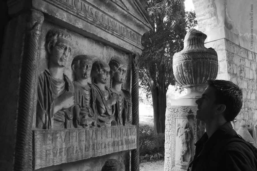 Roman headstone family Split Archaeological Museum