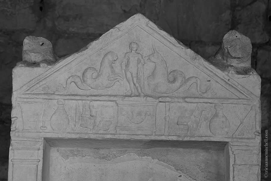 Roman headstone Split Archaeological Museum