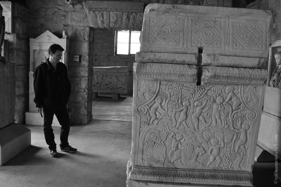 Roman sarcophagus Split Archaeological Museum