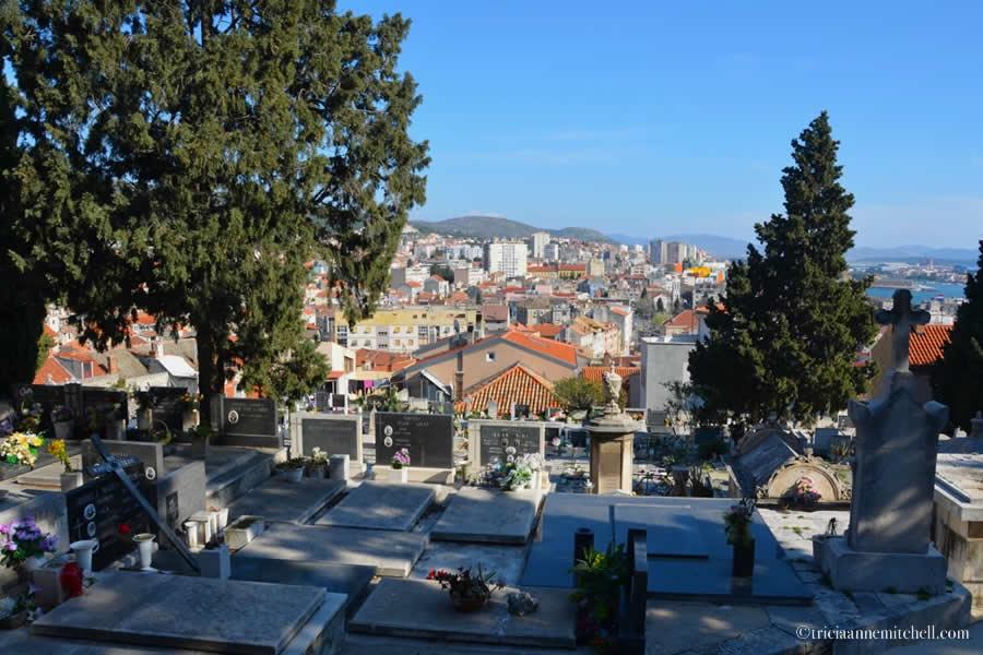 Sibenik Croatia Cemetery Skyline