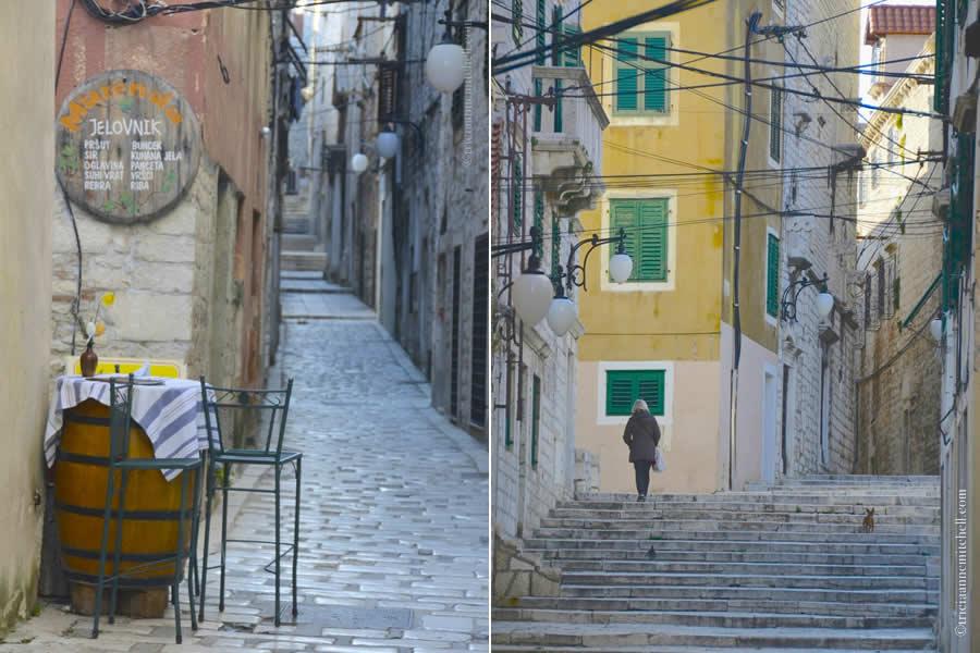 sibenik Croatia street scenes