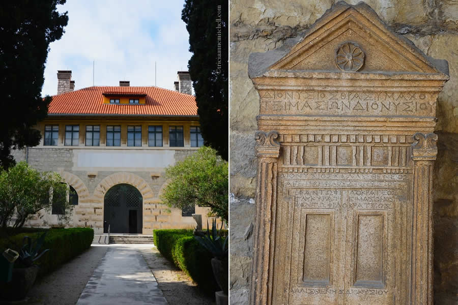 Exterior of Split Archaeology Museum and a Greek Artifact